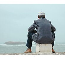 Man and sea Photographic Print