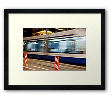 Night Trolley Framed Print