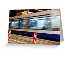 Night Trolley Greeting Card