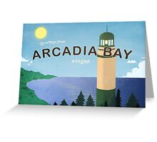 Greetings From Arcadia Bay Oregon Greeting Card