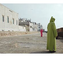 women strolling on the city walls Photographic Print