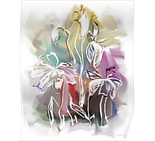 brunch of abstract stylized flowers illustration  Poster