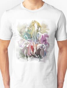 brunch of abstract stylized flowers illustration  Unisex T-Shirt