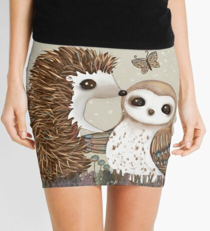 Owl and Hedgehog Mini Skirt