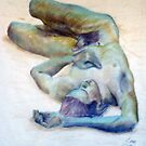 Nude on Canvas by Lee Lee
