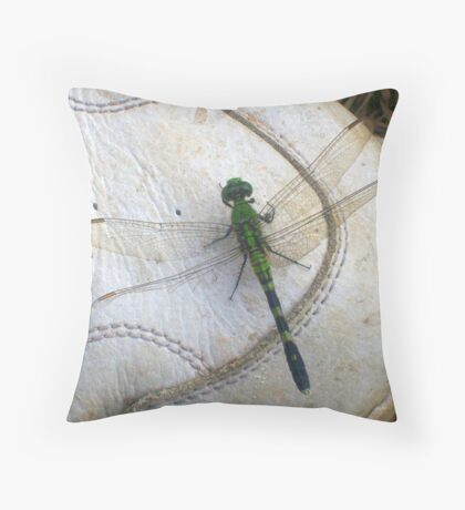 Good Luck Comes in Green Throw Pillow