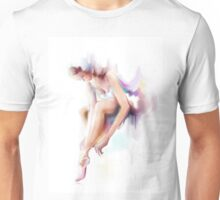 The woman dances, ballerina Unisex T-Shirt
