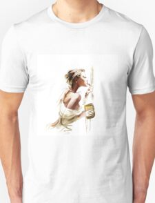 Pretty young woman with  lipstick Unisex T-Shirt