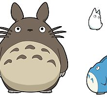 My Neighbor Totoro - Totoros Sticker Sheet Collection by 57MEDIA