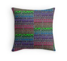 """""""Engineers Speak with Fonts""""© Throw Pillow"""