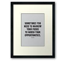 Tobias Sloane Quote Series 9 Framed Print