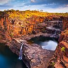Dusk at Mitchell Falls by aabzimaging