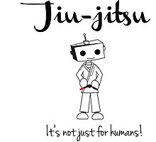 Robots love BJJ Photographic Print