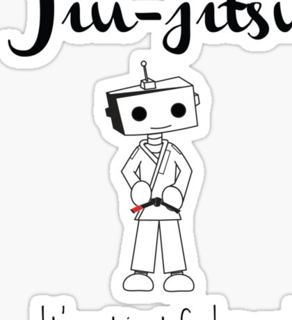Robots love BJJ Sticker