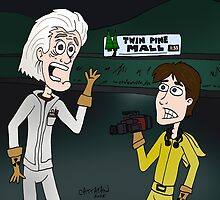 "BttF - Twin Pine Mall ...""Run for it, Marty!"" by CattapanComics"
