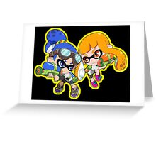 Splatoon - Inkling Boy and Inkling Girl Greeting Card
