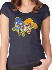 Splatoon - Inkling Boy and Inkling Girl Women's Fitted Scoop T-Shirt