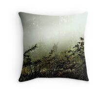 Hunting pheasants on a misty morning II Throw Pillow