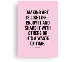 Tobias Sloane Quote Series 7 Canvas Print