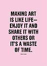 Tobias Sloane Quote Series 7 by Steve Leadbeater