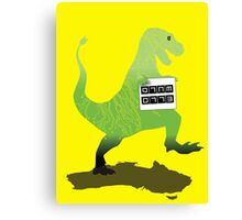 Digital Literacy -Walking with dinasaurs  Canvas Print