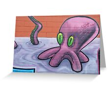 Graffiti Octopus Greeting Card