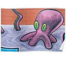 Graffiti Octopus Poster