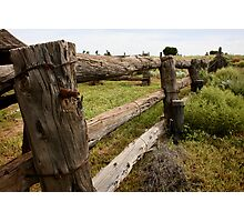 Post & Rail - Lake Mungo - NSW Photographic Print