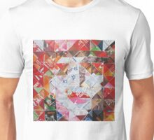 Mad Hatter in diagonal pattern Unisex T-Shirt