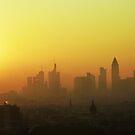 Misty Morning in Frankfurt by Quasebart