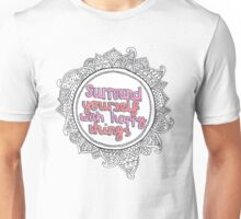 Happy Quote Mandala Unisex T-Shirt