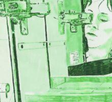 Triple Green Selfie Sticker
