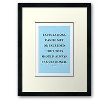 Tobias Sloane Quote Series 4 Framed Print
