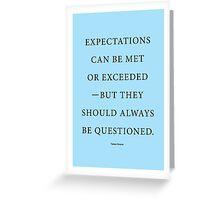 Tobias Sloane Quote Series 4 Greeting Card
