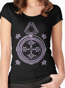 Magical Circle of King Solomon INVERTED Women's Fitted Scoop T-Shirt