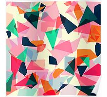 Loud Geometric Abstract Poster