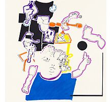 Night Drawings - Les Dessins de Nuit n°14  - Doll and girl...  Photographic Print