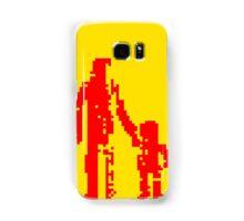 1 bit pixel pedestrians (red) Samsung Galaxy Case/Skin