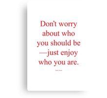 Tobias Sloane Quote Series 3 Canvas Print