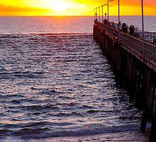 Port Noarlunga Jetty @ sunset by Ali Brown
