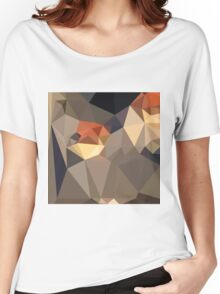 Cool Black Blue Brown Abstract Low Polygon Background Women's Relaxed Fit T-Shirt