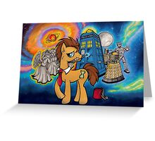 Doctor Whooves - Galaxy Greeting Card