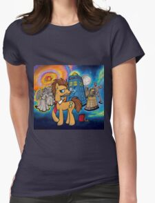Doctor Whooves - Galaxy Womens Fitted T-Shirt