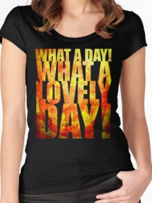What A Lovely Day! Women's Fitted Scoop T-Shirt