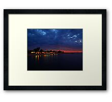 """Dusk over Monkey Mia"" Shark Bay, Western Australia  Framed Print"