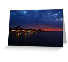 """Dusk over Monkey Mia"" Shark Bay, Western Australia  Greeting Card"