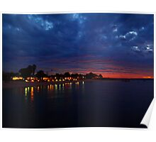 """Dusk over Monkey Mia"" Shark Bay, Western Australia  Poster"