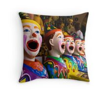 Carnival Clowns Throw Pillow