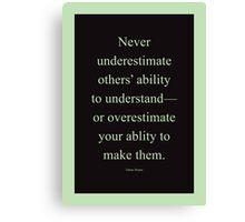 Tobias Sloane Quote Series 2 Canvas Print