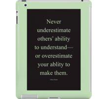 Tobias Sloane Quote Series 2 iPad Case/Skin